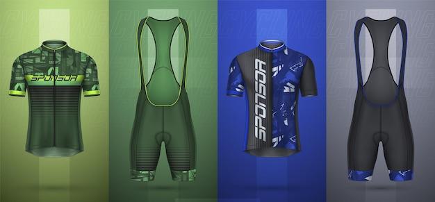 Collection premium de maillot de cyclisme