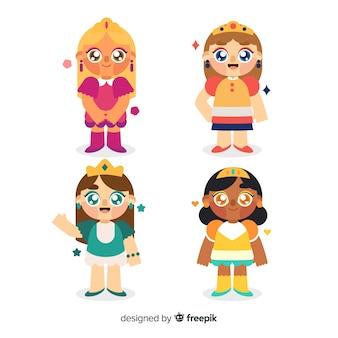 Collection de princesse dessinée à la main