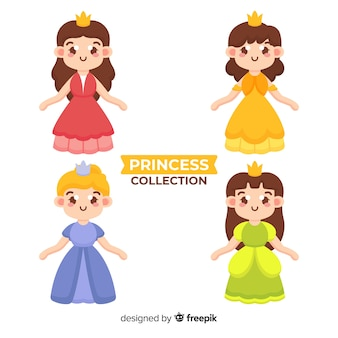 Collection de princesse dessinée à la main