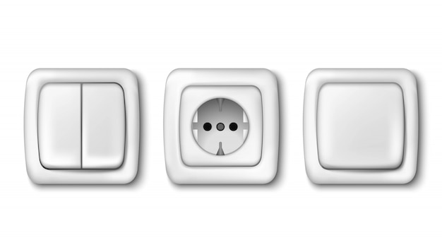 Collection de prise électrique et interrupteur d'éclairage