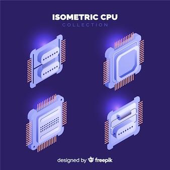 Collection de processeurs isométrique