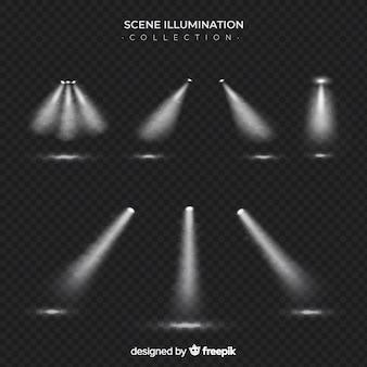 Collection de projecteurs de scène