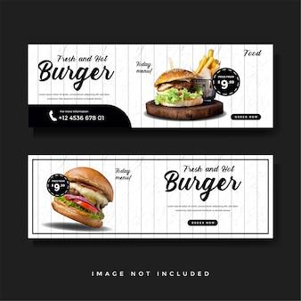 Collection de promotion de bannières alimentaires et culinaires