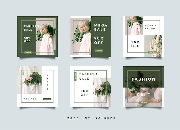 Collection de promotion de publication de flux de médias sociaux de mode