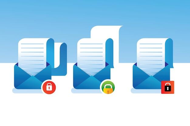 Collection protégée par courrier sécurisé verrouillage sécurisé sécurité de la confidentialité