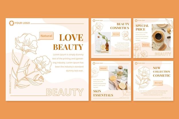 Collection de publications instagram beauté dégradé