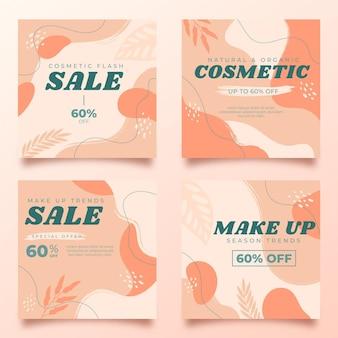 Collection de publications instagram beauté dessinée à la main