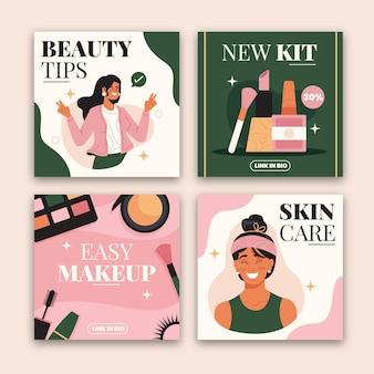 Collection de publications instagram beauté