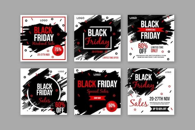 Collection de publications instagram black friday