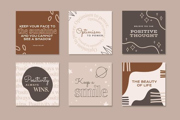 Collection de publications instagram boho