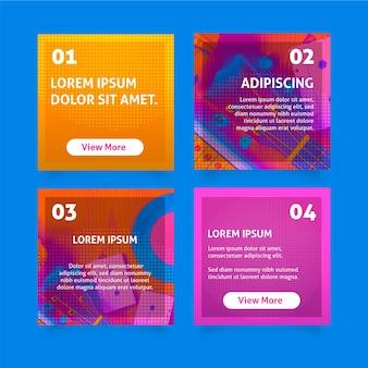 Collection de publications instagram colorées