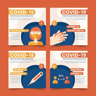 Collection de publications instagram sur le coronavirus