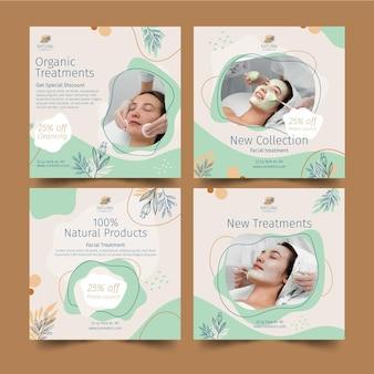 Collection de publications instagram cosmétiques