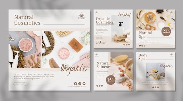 Collection de publications instagram de cosmétiques
