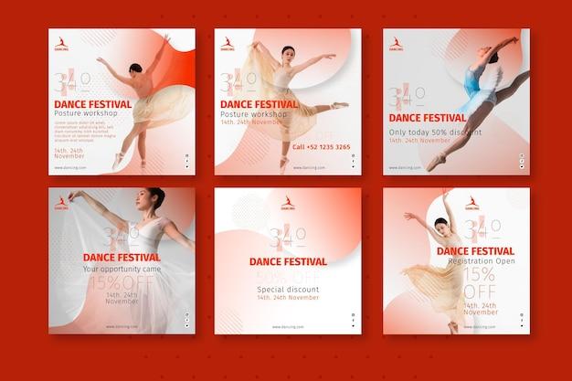 Collection de publications instagram dansantes