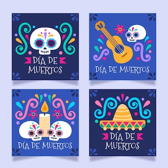 Collection de publications instagram de dia de muertos