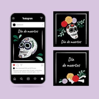 Collection de publications instagram día de muertos