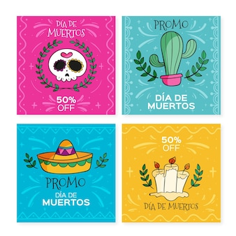 Collection de publications instagram de dis de muertos