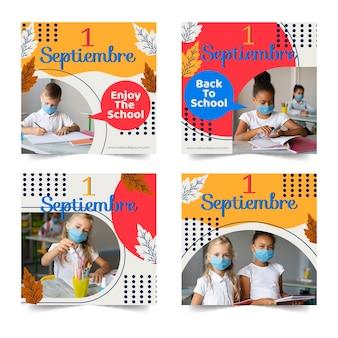 Collection de publications instagram du 1er septembre avec photo