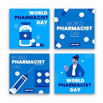 Collection de publications instagram du jour du pharmacien