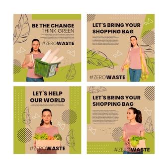 Collection de publications instagram sur l'environnement
