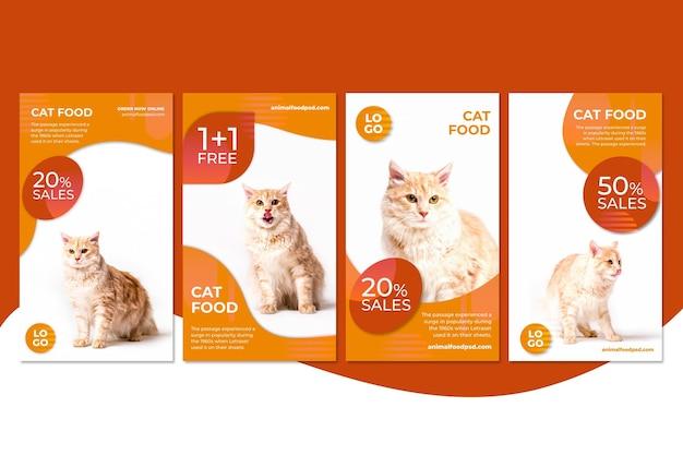 Collection de publications instagram de nourriture animale