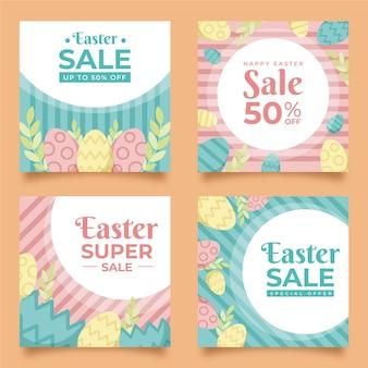 Collection de publications instagram de pâques