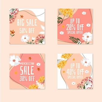 Collection de publications instagram peintes à la main