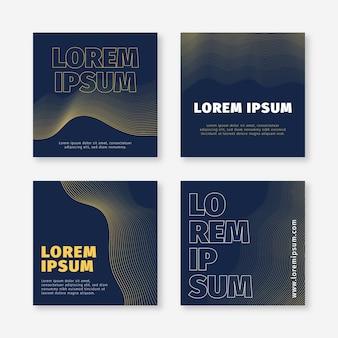 Collection de publications instagram plat