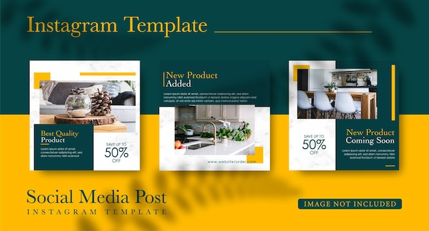Collection de publications instagram pour la conception de meubles