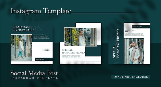 Collection de publications instagram pour la conception de la mode ramadan
