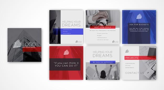 Collection de publications instagram pour les entreprises