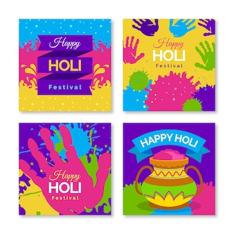 Collection de publications instagram pour le festival de holi
