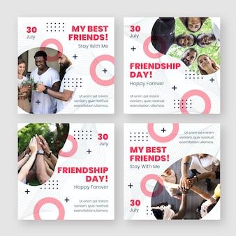 Collection de publications instagram pour la journée internationale de l'amitié