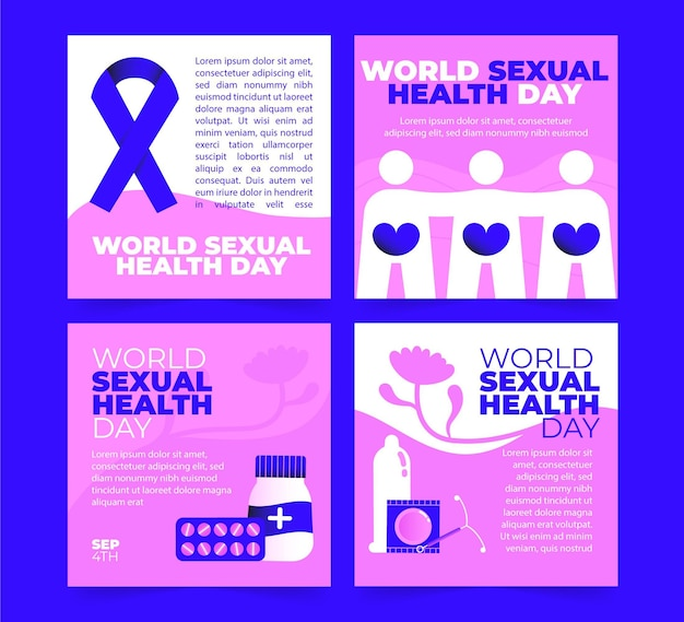 Collection de publications instagram pour la journée mondiale de la santé sexuelle
