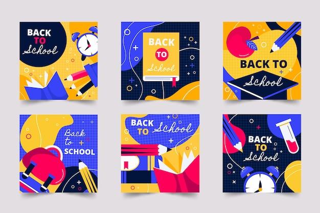 Collection de publications instagram pour la rentrée