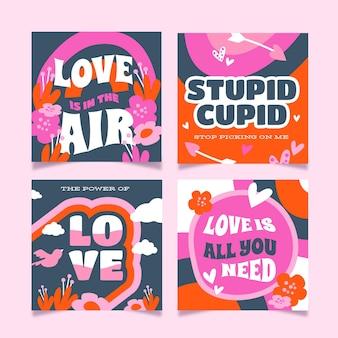 Collection de publications instagram pour la saint-valentin