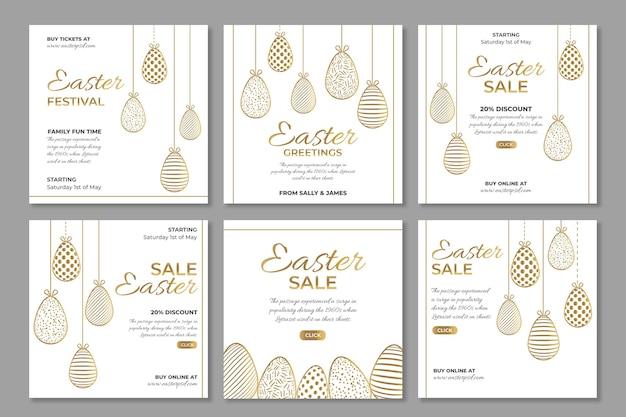 Collection de publications instagram pour la vente de pâques