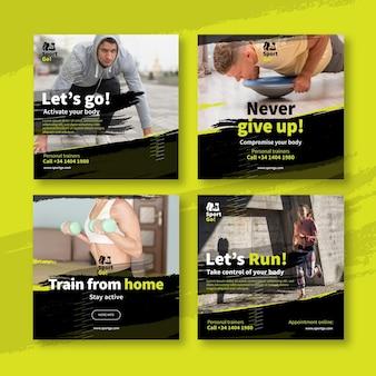 Collection de publications instagram sport