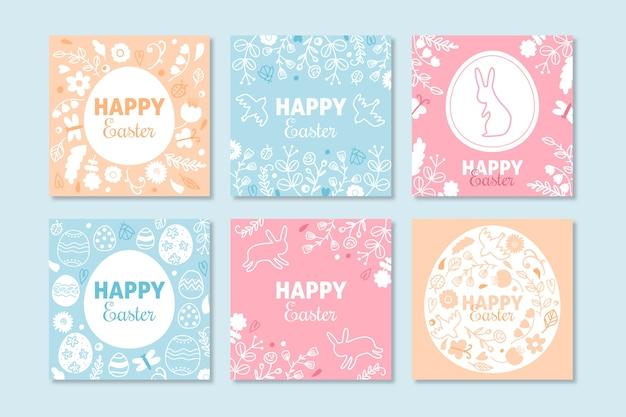 Collection de publications instagram avec le thème de pâques