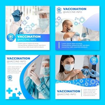 Collection de publications instagram sur le vaccin dégradé avec photos