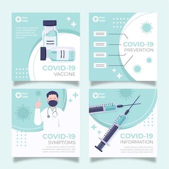 Collection de publications instagram sur les vaccins