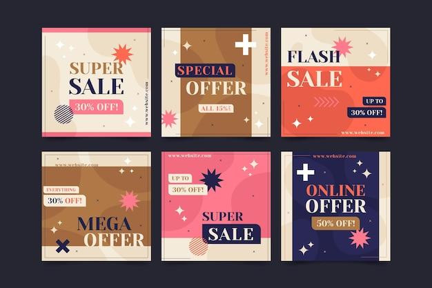 Collection de publications instagram de vente