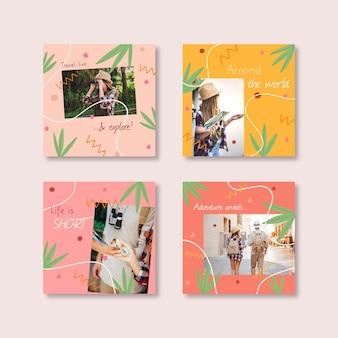 Collection de publications instagram de voyage