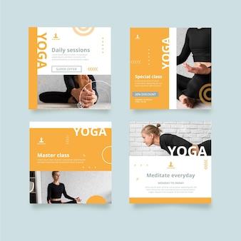 Collection de publications instagram de yoga