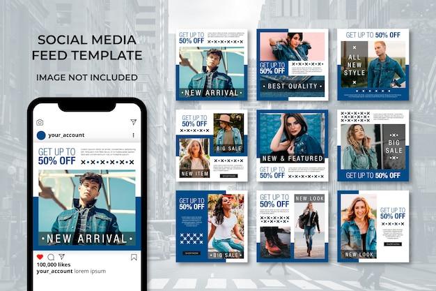Collection de publications sur les médias sociaux