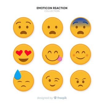 Collection de réactions émoticônes plates