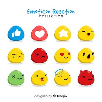 Collection de réactions d'émoticônes