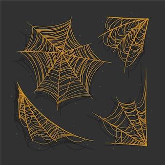 Collection réaliste de toiles d'araignées d'halloween