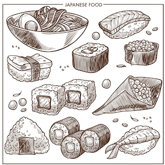 Collection de recettes de cuisine japonaise